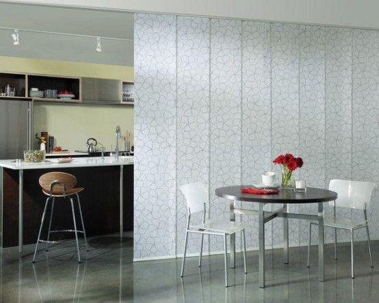 C mo separar ambientes con paneles japoneses diana becerra - Paneles para cocina ...