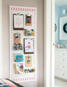Un bloc de notas en la pared